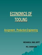 ECONOMICS OF TOOLING PPT.ppt