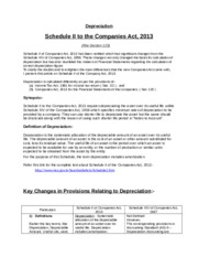 Depreciation 2013 Act