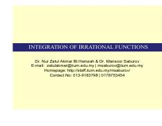 Lecture 9_Integration of Irrational Functions.pdf
