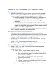Notes: Ch 2 - Corporate Environment