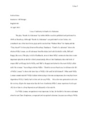 Death of a Salesman Analysis Essay FINAL DRAFT