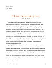 Political Advertising Essay