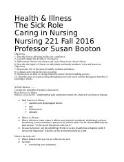 Caring in Nursing-Sick Role Outline.docx