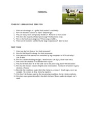 FOOD INC video notes