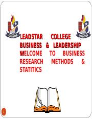 BUSINESS RESEARCH METHODS & STATISTICS  2017 Version.ppt