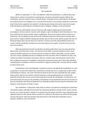 Constitution essay question