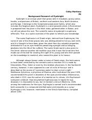 Background Research of Eyebright - PAP Biology