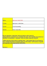 second exam - solution - summer 2014 - Part A - template