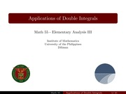 09 Applications of Double Integrals - Handout