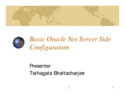 8-Basic Oracle Net Server Side Configuration