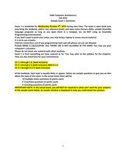computer architecture exam