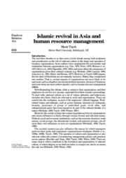 Islamic-revival-in-Asia-and-human-resource-management