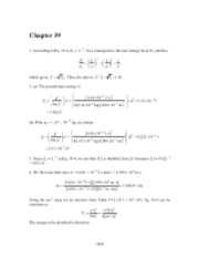 PHY2049 Chapter 39 Solutions
