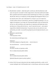Joey Kamm – Latin 131 Graded Exercise for 11