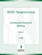 SME2001 - Session 2, Basic Cost Elements & Concepts, Fall 2020, v(7.0).pptx