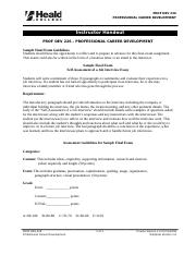 PROF DEV 226 Instructor Handout Sample Final Exam and Guidelines_071108