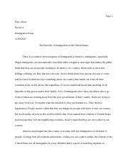 The Final Draft of the Immigration Essay.docx