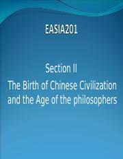 02_the birth of the Chinese civilization and the age of the philosophers