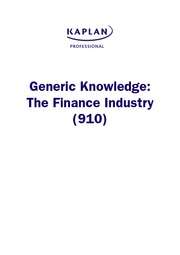 Generic Knowledge - Study notes