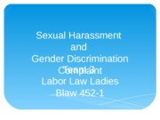 Sexual Harassment and Gender Discrimination Complaint
