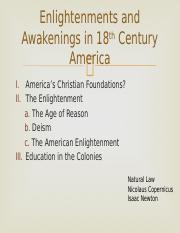 007 - Enlightenments and Awakenings in 18c America.pptx