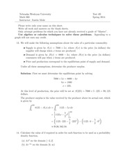 MATH 060 Spring 2014 Test 4 Solutions