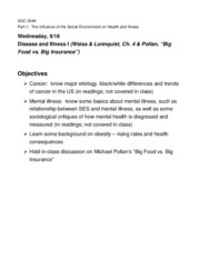 9-16-Disease & illness II-Objectives overhead