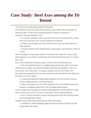 Case Study - Steel Axes among the Yir Yoront