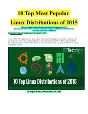 10 Top Most Popular Linux Distributions of 2015