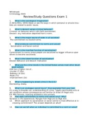 crim review exam 1
