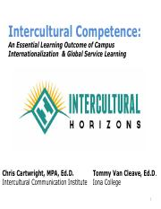 L-An Essential Learning Outcome of Campus internationalization