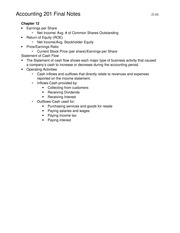Accounting 201 Final Notes