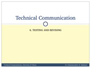 TechComm, Lecture 6 - Testing and Revising