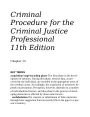 Criminal Procedure for the Justice Professional Chapter 15