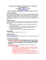 Principles II - ACCT 202 - Online - Session 4 - Summer '08