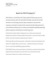 Report on SIFCO Forging Co.docx