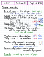 Origami theorem review