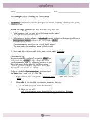 Now use the Gizmo to measure the solubility of sodium ...