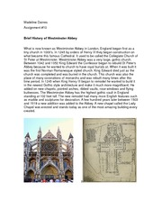 brief history on Westminster Abbey