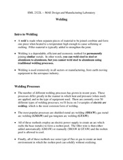 Study Guide on Welding