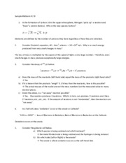 Midterm 2 B Test Solutions for Chemistry Applications to Living Systems