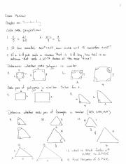 Final Exam Review Honors Geometry 2013