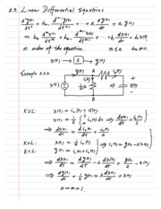 Linear Differential Equations Lecture