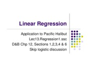 13 Regression