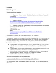 Week 3 Assignments (January 2013)