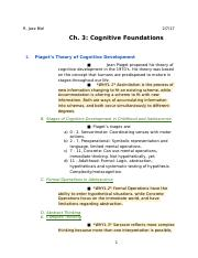 Ch. 3: Cognitive Foundations