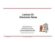 Lecture 23-Electronic Noise