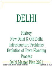 Evolution of Town Planning in Delhi.pptx