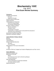 First Exam Review