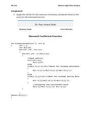Advanced Algorithms Analysis-CSC511 - 2nd Assignment.pdf
